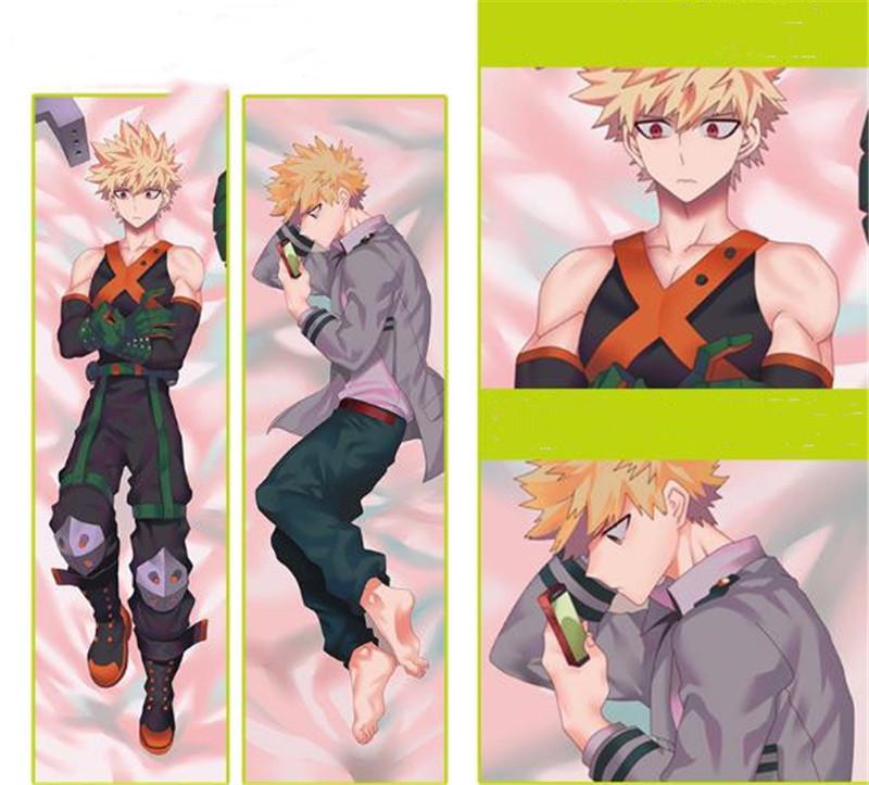 Anime Boku no Hiro Bakugo Rubber Dakimakura Hug Body Pillow Cover Case 150CM