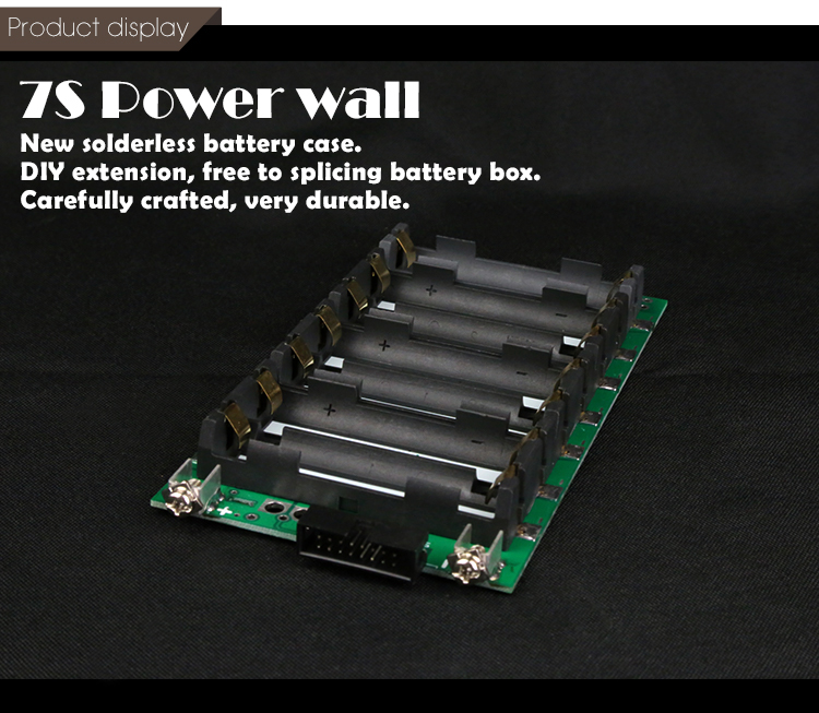 7S 29V Li-ion Lithium 18650 Battery BMS PCB Board Power Wall Battery Station 60A