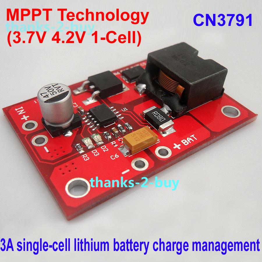 Cn3791 3a Mppt Solar Panel Controller Single Cell Li Ion