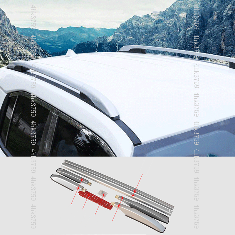 Black Alloy Top Roof Side Rails Rack Cargo Luggage For Tucson Sportage IX35