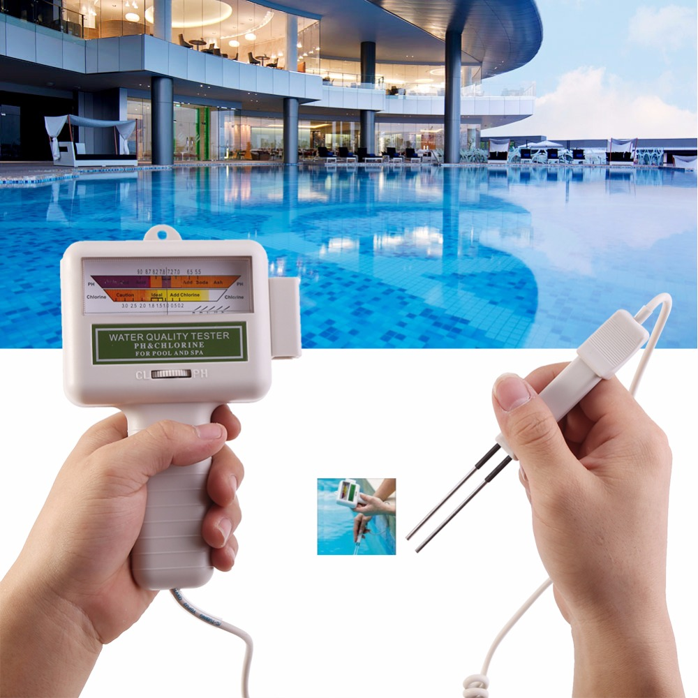Water Quality PH//CL2 Chlorine Tester Level Meter for Swimming Pool Spa Test Kit