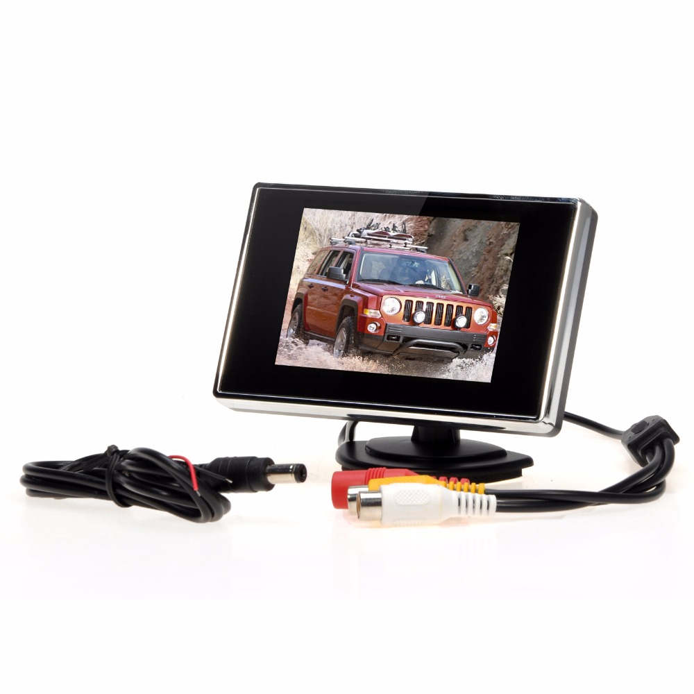 """3.5/"""" TFT LCD Color Screen Car Video Rearview Monitor Camera For Car Backup new"""