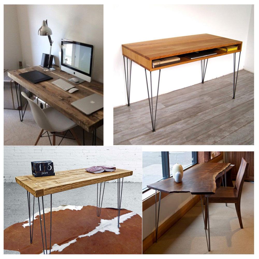 4x 3 stab metall tisch haarnadel beine stahl industrie schreibtisch m bel beine ebay. Black Bedroom Furniture Sets. Home Design Ideas