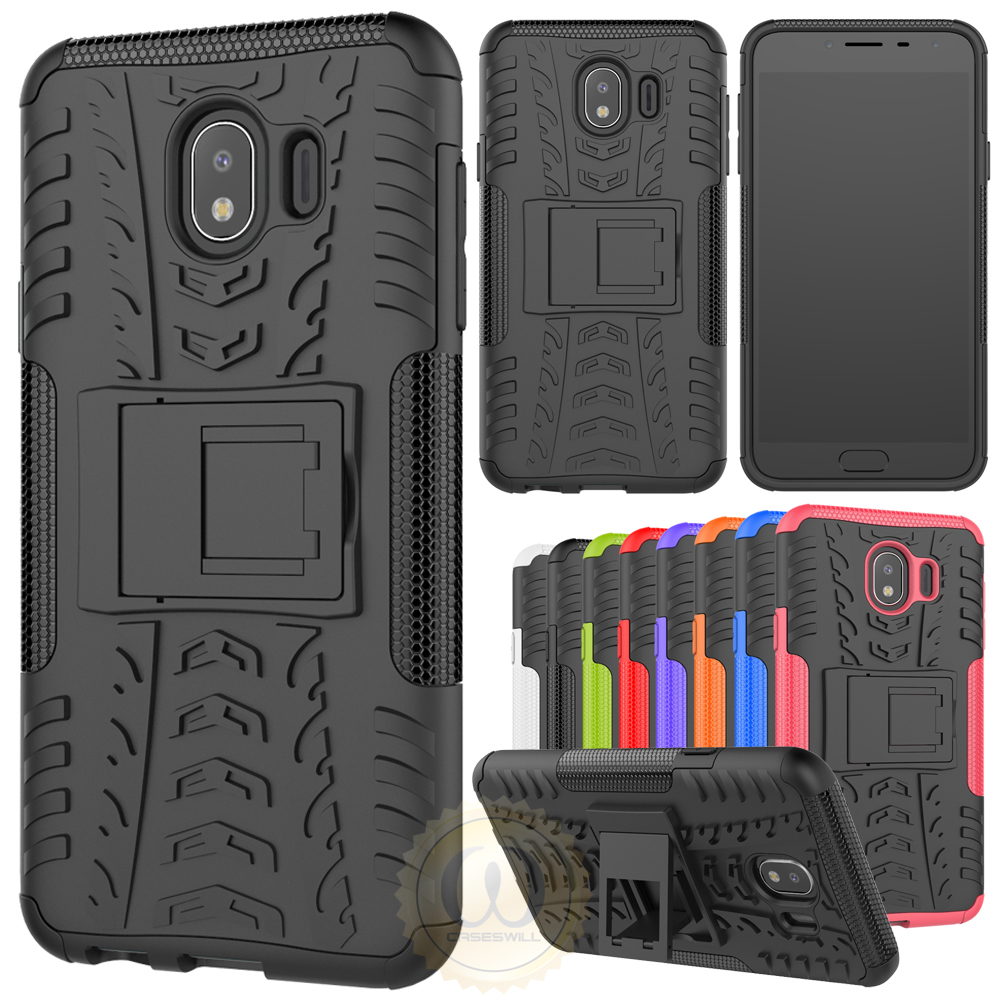 detailed pictures 84584 c3a0e Details about For Samsung Galaxy J4 (2018) Shockproof Protective Case  Hybrid Kickstand Cover