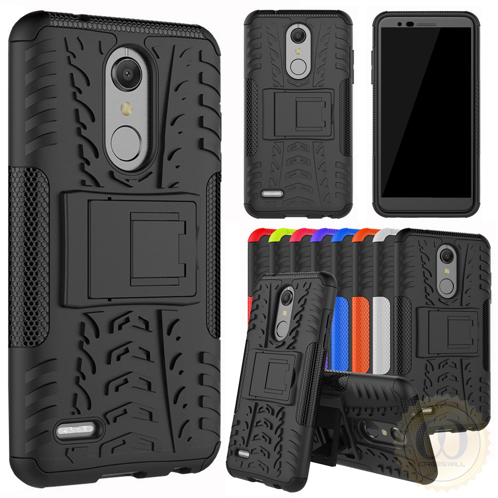 quality design 80d1c ebf60 Details about For LG K30 / K10 2018 Case with Kickstand Hybrid Shockproof  Rugged Phone Cover