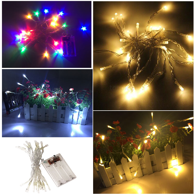 2m 20 Led Fairy String Party Lights Battery Christmas Curtain Light Outdoor