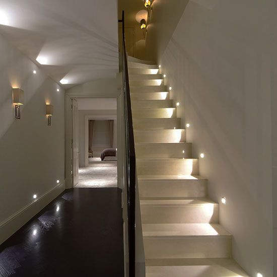 21 Staircase Lighting Design Ideas Pictures: 50mm Low Voltage LED Deck Stair Lights Step Pathway Garden