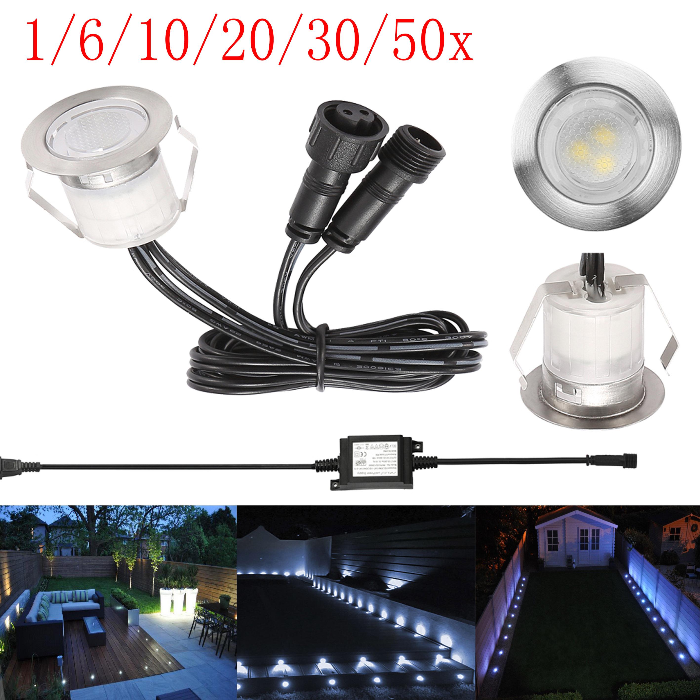 Led Kitchen Garden: 30mm LED Decking Lights Patio Kitchen Garden Yard Path
