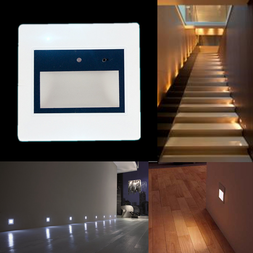 Motion Sensor Led Wall Recessed Stairs Light Hall Hotel