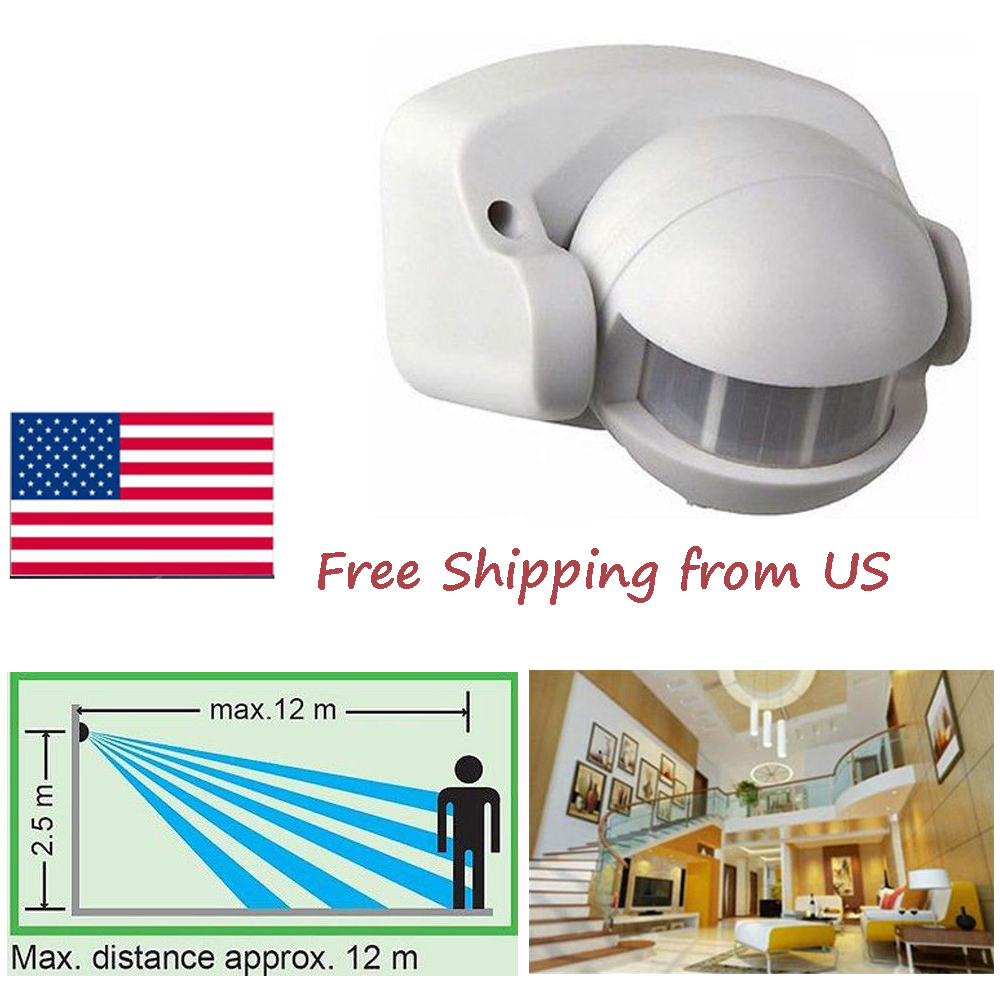 Details About Smart 300w 12m Body Ir Lights Motion Sensor Switch Detector For Outdoor Lighting