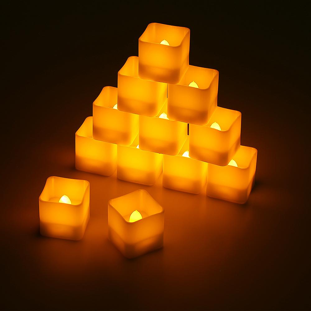 12er set led kerzen mit timerfunktion teelichter flame led lichter warmwei deko ebay. Black Bedroom Furniture Sets. Home Design Ideas