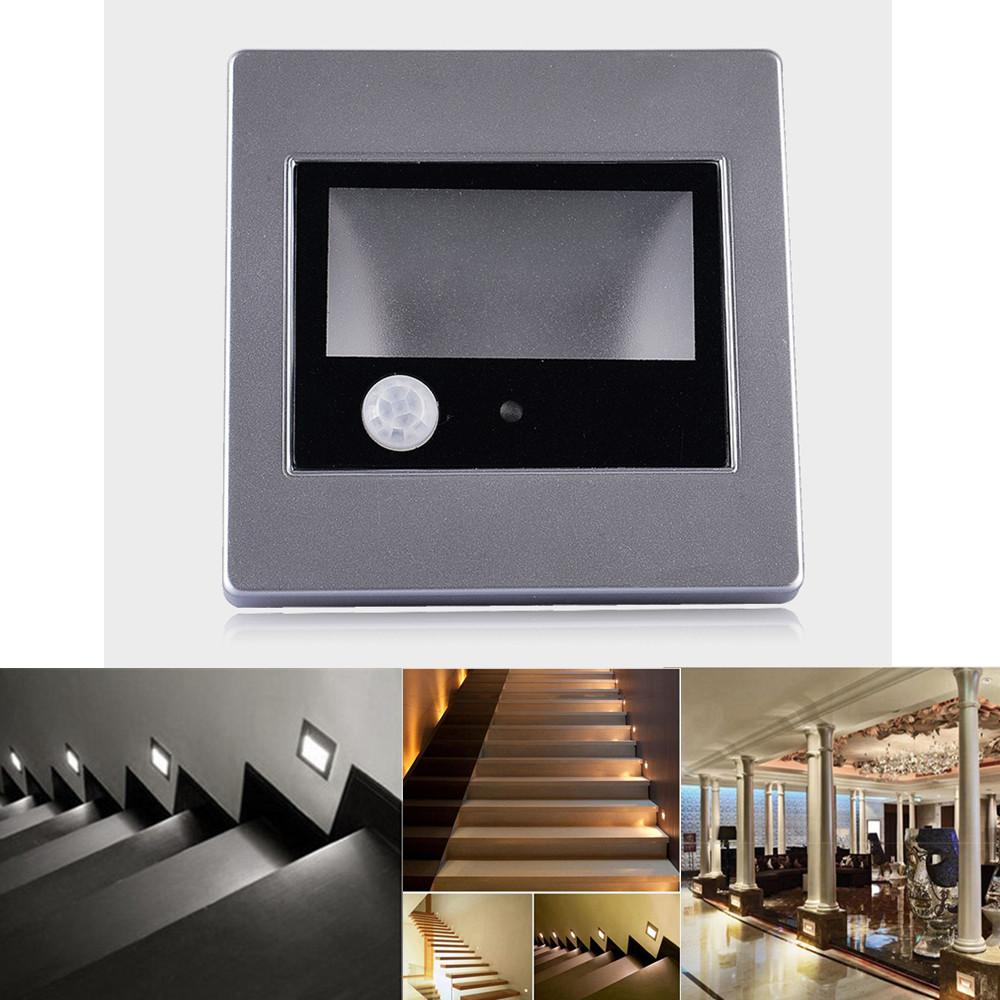 0 6w led treppen beleuchtung wand einbau leuchte stufen bewegungsmelder 230v ebay. Black Bedroom Furniture Sets. Home Design Ideas