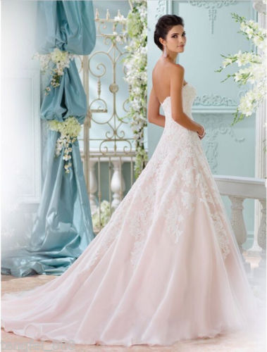 Lace corset back wedding dress