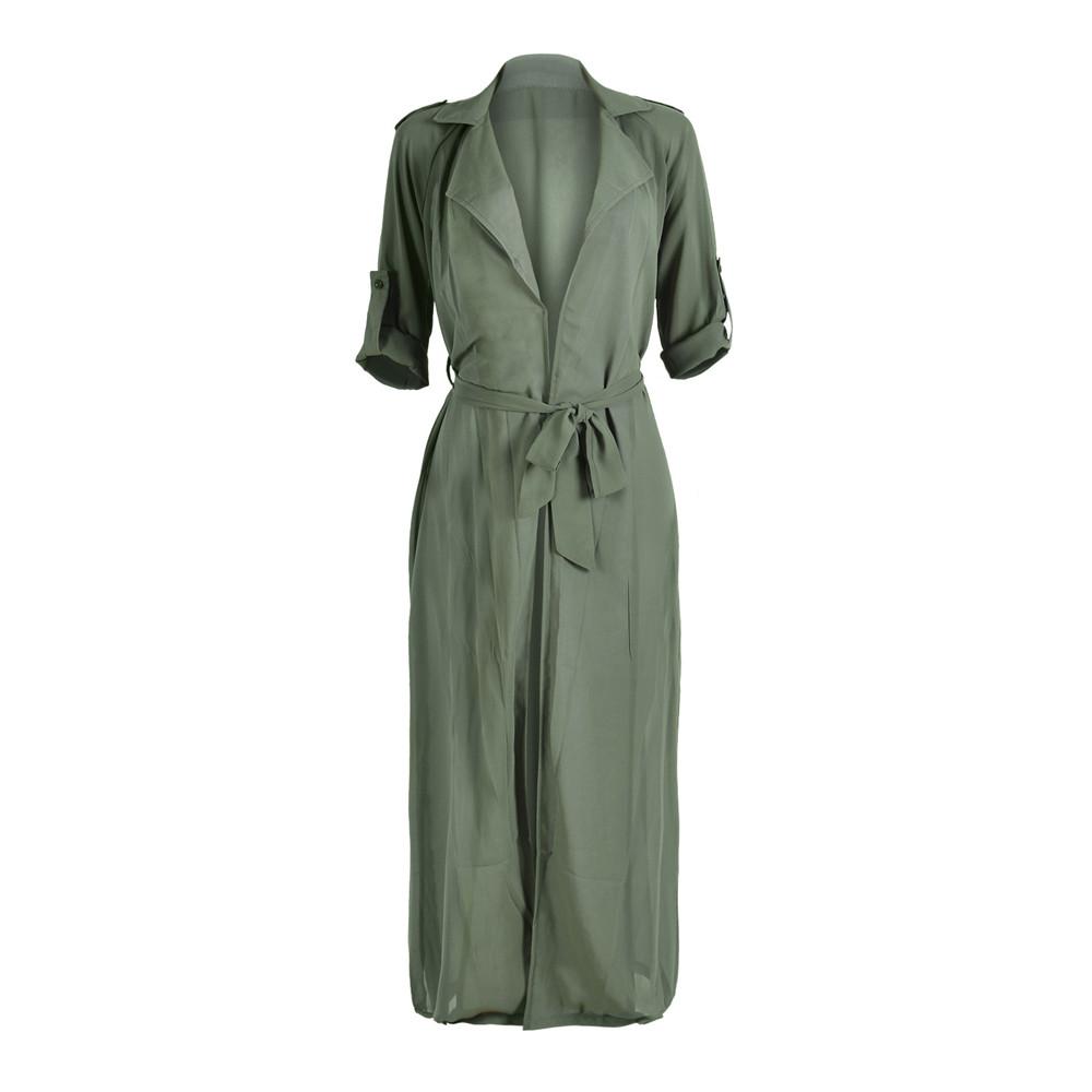 US Women Kimono Jacket Long Sleeve Maxi Cardigan Chiffon Garment ...