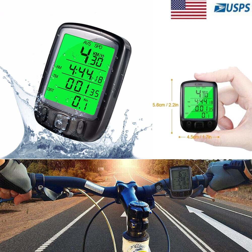 Wired Digital Cycling Cycle Bike Bicycle Speedometer Odometer Computer Backlight