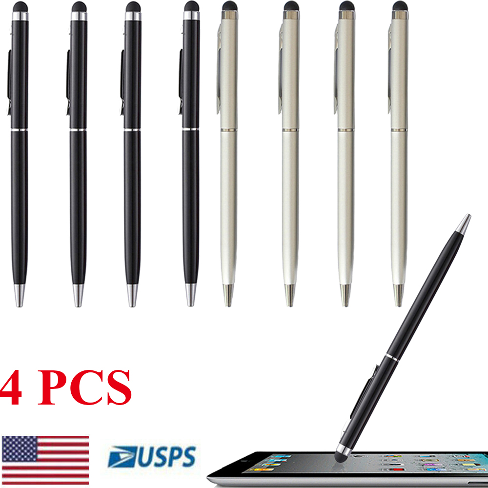10Pcs 2 in 1 Touch Screen Stylus Gel ink Ballpoint Pen for iPhone 4 4S iPad New