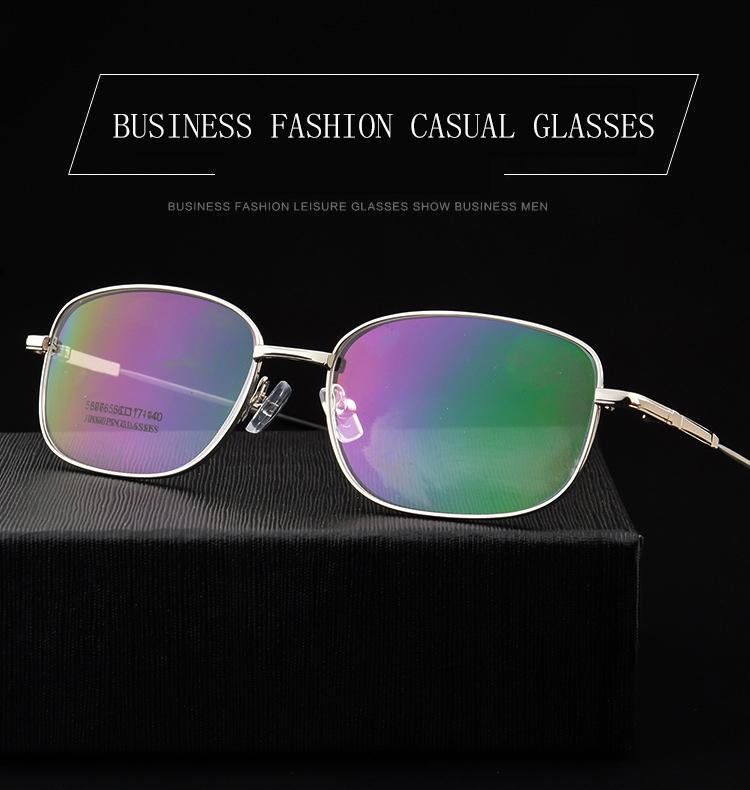 f667d78b52f7 LE Men Full Frame Metal Memory Titanium Glasses Frames Myopia Optics  Eyeglasses