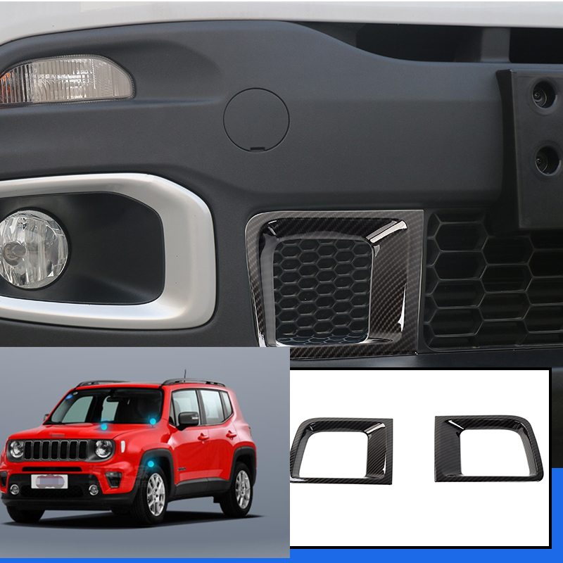 2Pcs ABS Red Air Outlet Vent Cover Frame Trim For Jeep Renegade 2015-2018