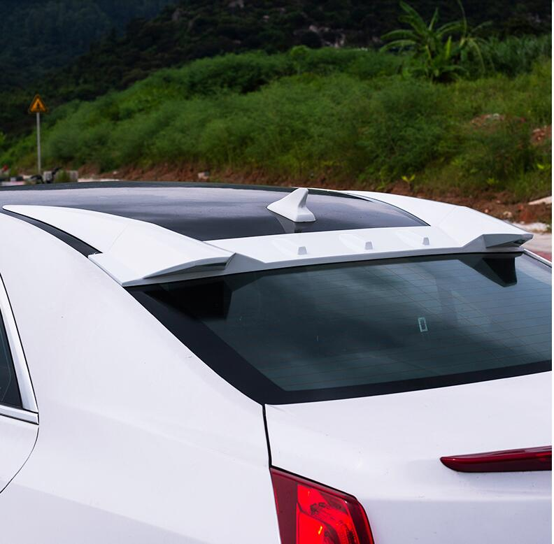 FOR Cadillac ATS 2013-2019 ABS White Paint Rear Trunk Roof