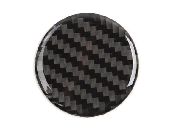 Carbon Fiber Inner Multimedia Knob Cover Trim For Jeep Grand Cherokee 2011-2018