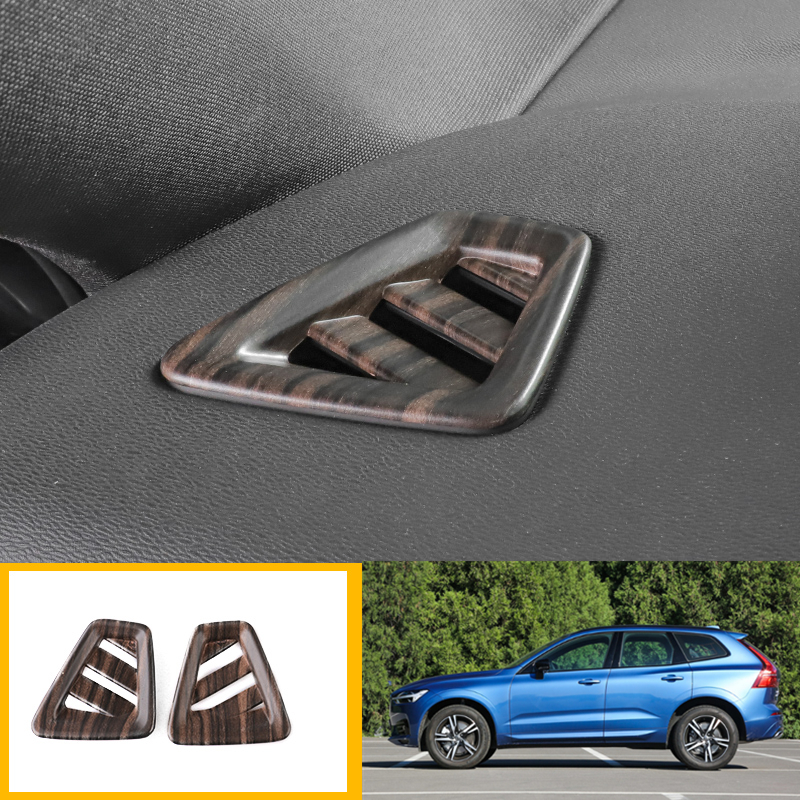 2PCS Stainless steel Car Seat adjustment pannel cover trim For Volvo XC60 2018
