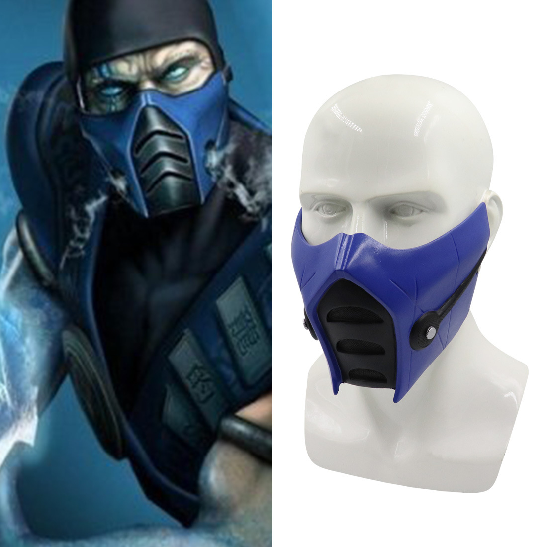Mortal Kombat 11 Sub Zero Halloween Cosplay Mask Resin Costume