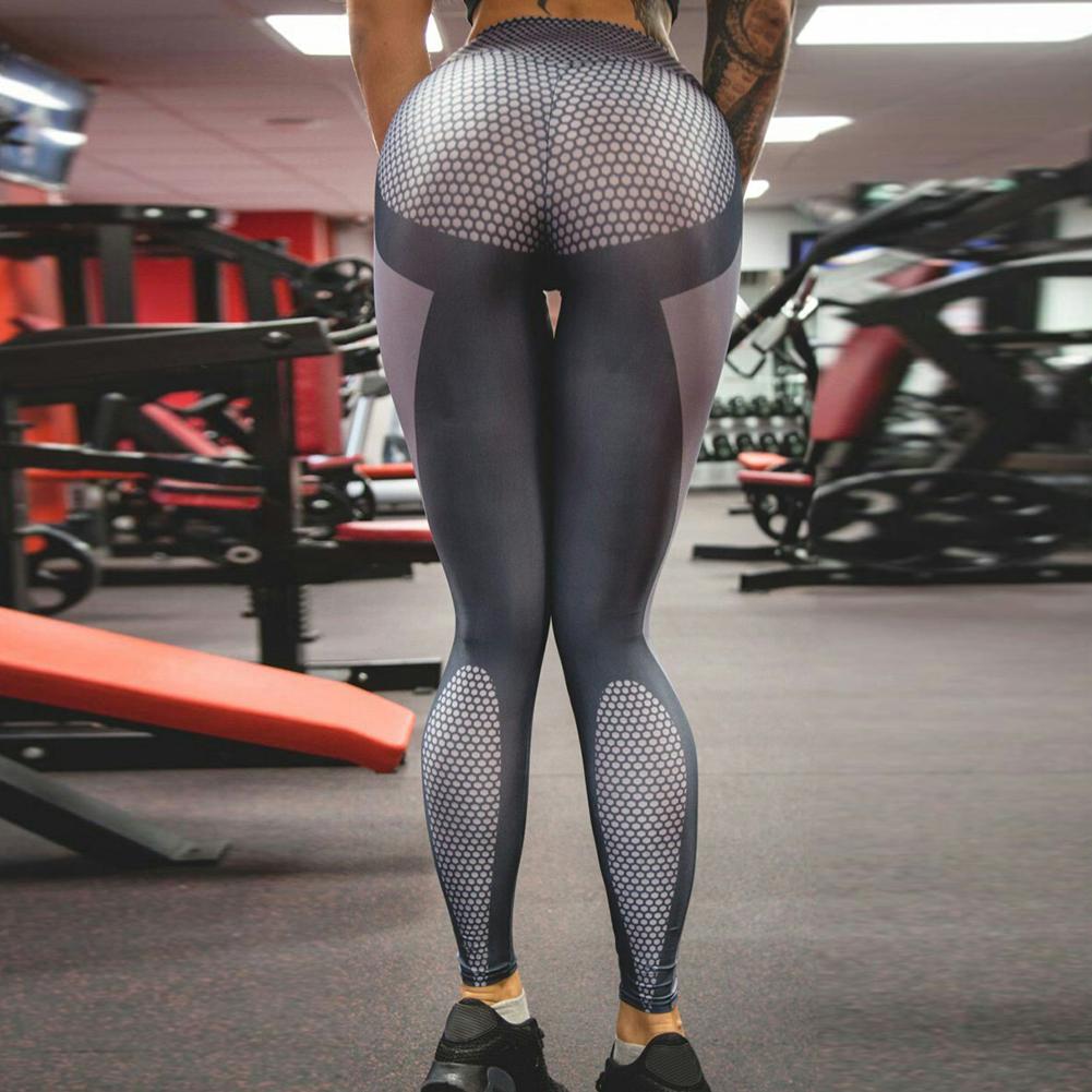 Women's Sports Gym Yoga Workout Mesh Leggings Fitness