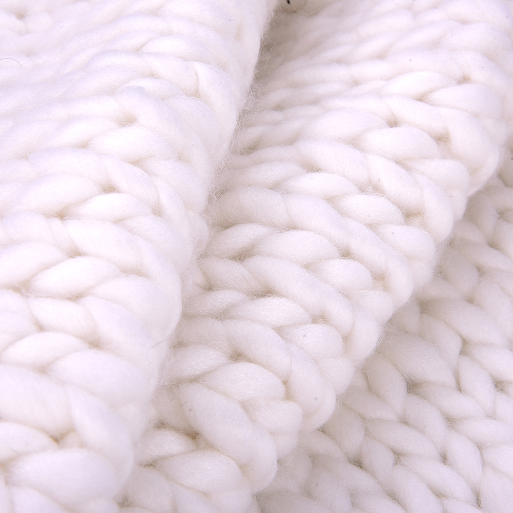 Hand-Chunky-Sofa-Bed-Knitted-Blanket-Thick-Yarn-Merino-Wool-Bulky-Knitting-Throw