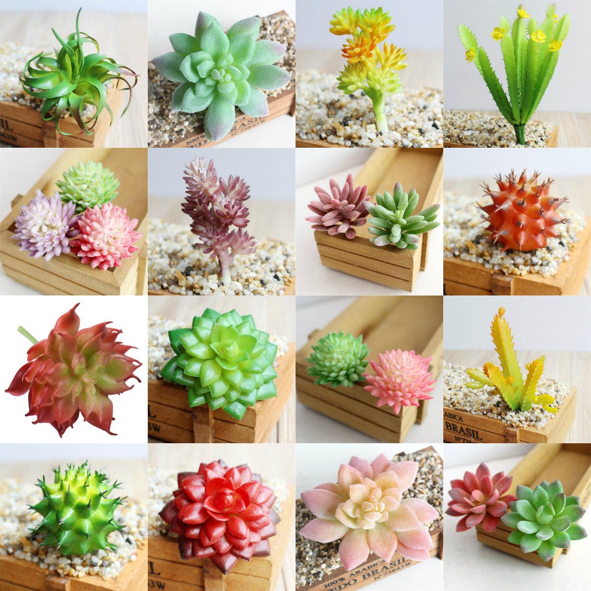 Garden Miniature Fake Cactus Diy