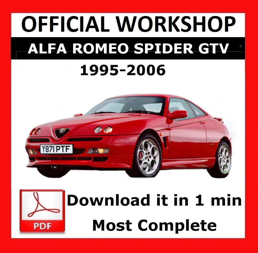 official workshop manual service repair alfa romeo spider gtv 1995 rh ebay co uk alfa spider workshop manual download alfa spider manual download
