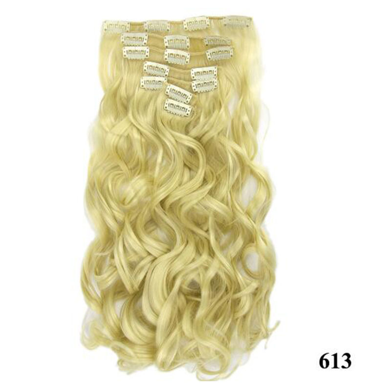 7pcs Long Curly Synthetic Mega Hair Extensions Clip In Hair