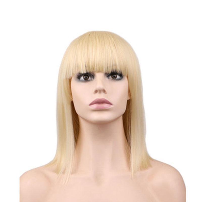Women Synthetic Wig Straight Short Bob Hair Anime Cosplay - Anime bob hairstyle