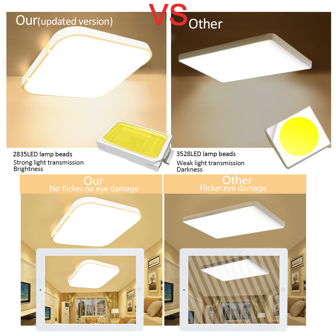 36w Dimmable Led Ceiling Down Light Bathroom Fitting: 24W 36W LED Panel Ceiling Down Light Kitchen Bathroom Cool