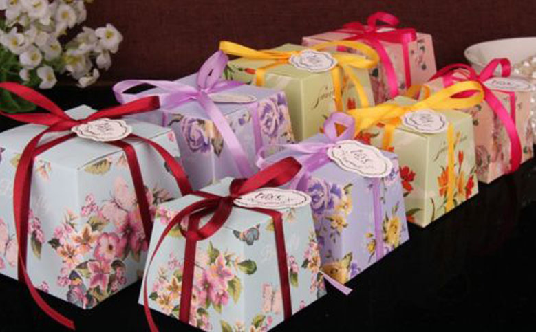 Details About 50100 Sweet Flower Wedding Birthday Favor Party W Ribbon Sweets Candy Gift Box