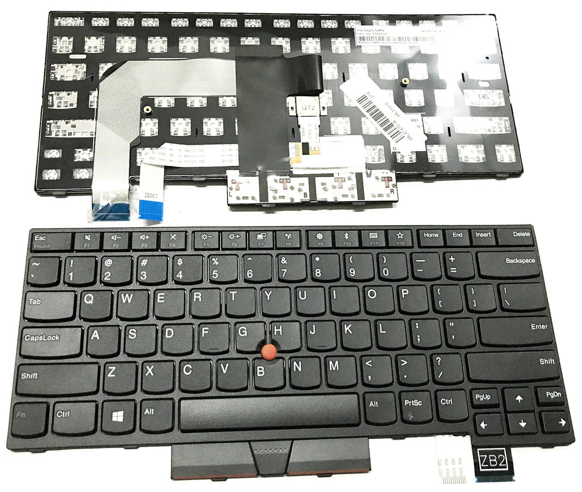 Original New Fit IBM Lenovo ThinkPad T470 US Black Keyboard