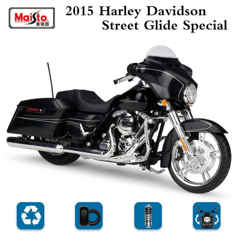 Details About 2015 Harley Davidson Street Glide Special Motorcycle Black Maisto Hd Alloy Model
