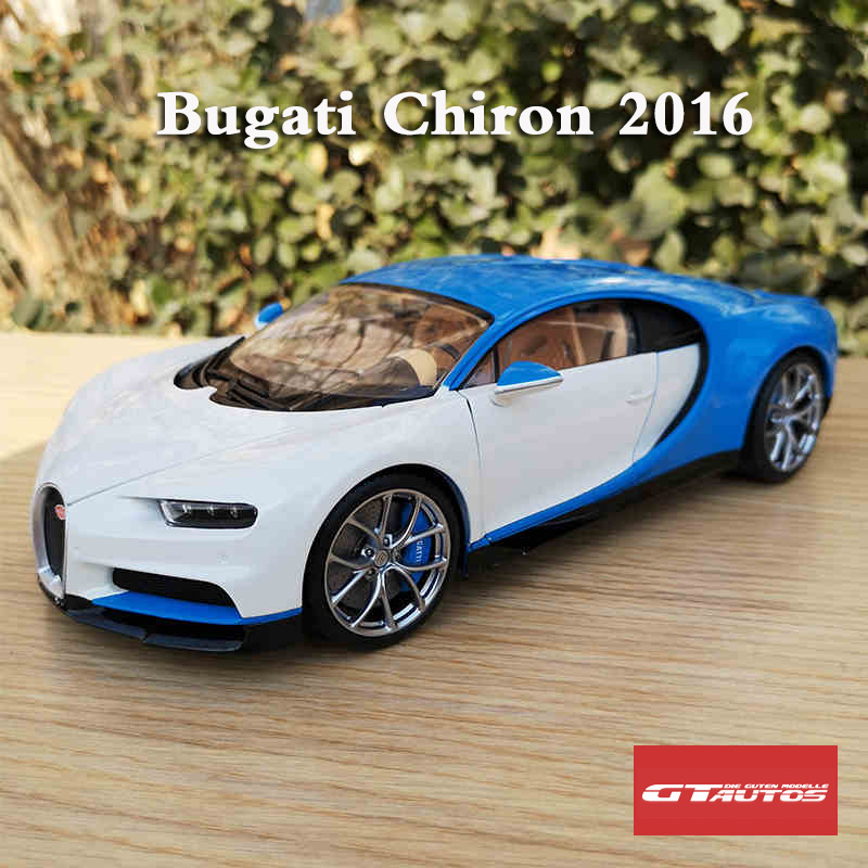 1:18 GTAUTOS 2016 Bugatti Chiron French Racing Blue//Atlantic Blue