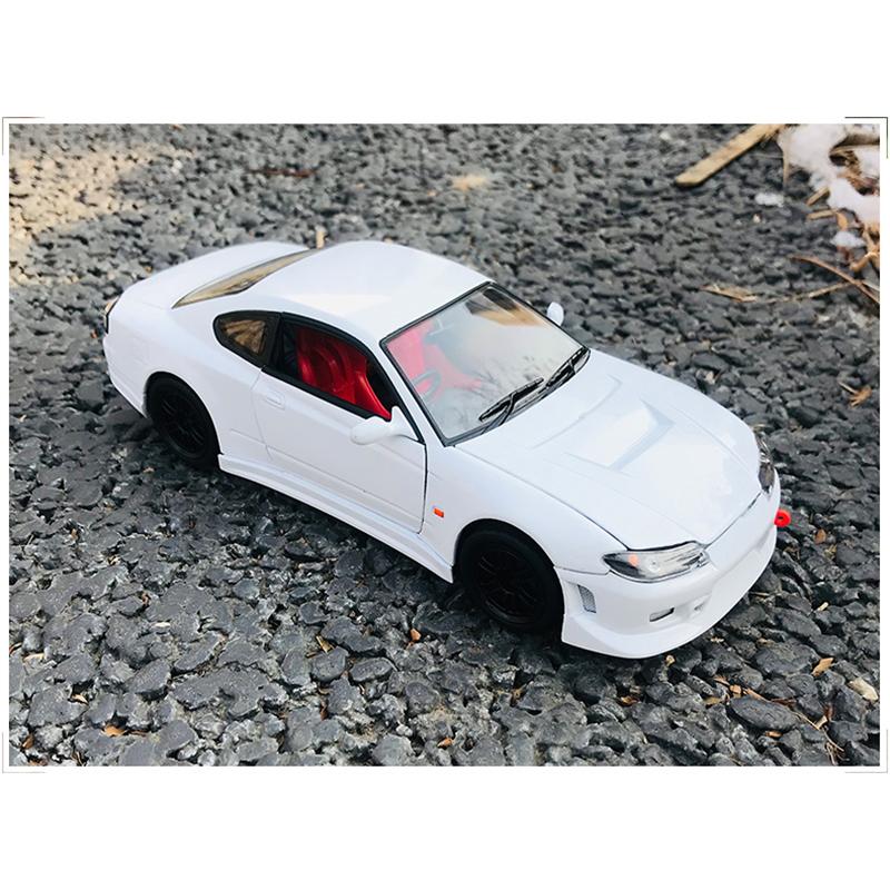 Nissan Silvia s-15 1999 blanco maqueta de coche 1:24 Welly