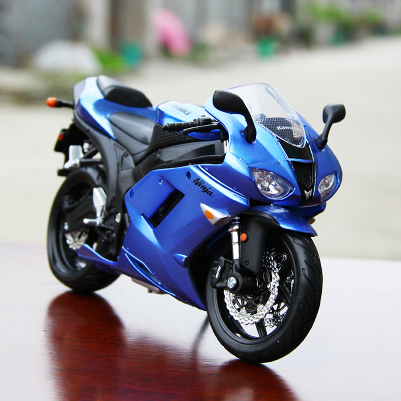 Details About 112 Scale Motorcycle Model Kawasaki Ninja Zx 6r Moto Bike Metal Model By Maisto