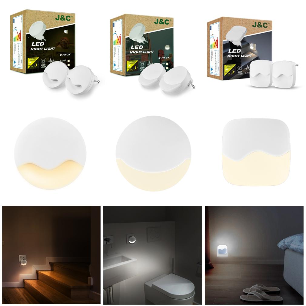 Steckdose LED Nachtlicht Bewegungsmelder Dimmbar Treppen-Leuchte Sensorlampe