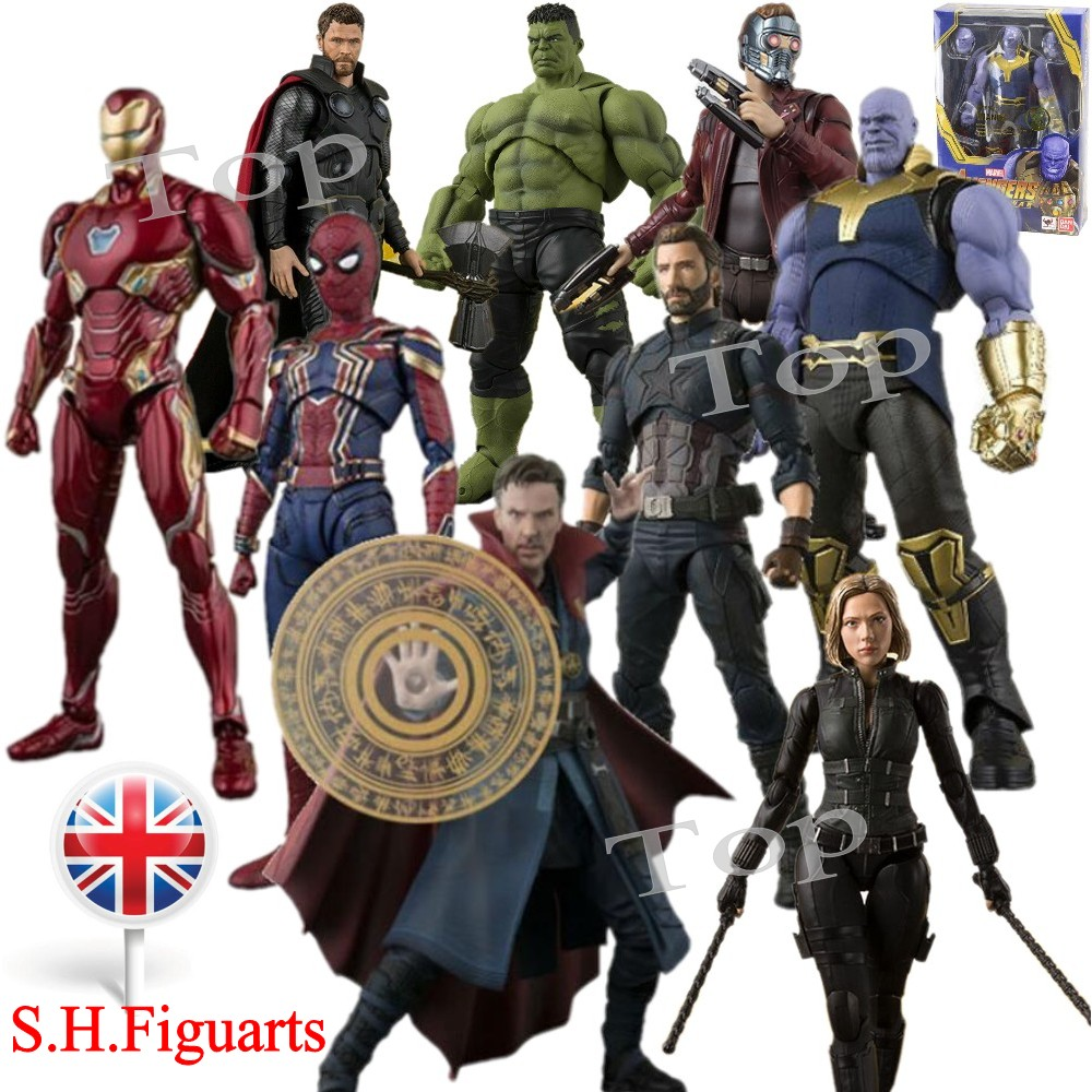 "UK S.H.Figuarts Avengers 4 Thanos Iron Man 6/"" Action Figure SHF Toys Gift In Box"