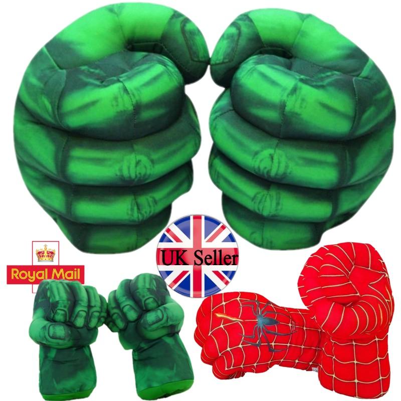 New kids Avengers Green Gloves  SPORT Gift  Incredible HULK Hand Marvel UK//