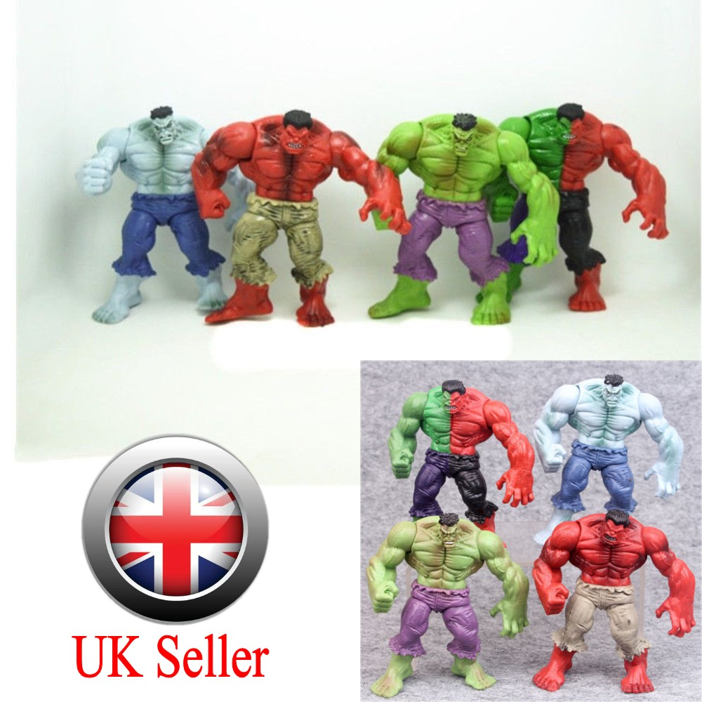 4Pcs The Incredible Avengers Hulk Green Red Action Figure Toys 4.3/""