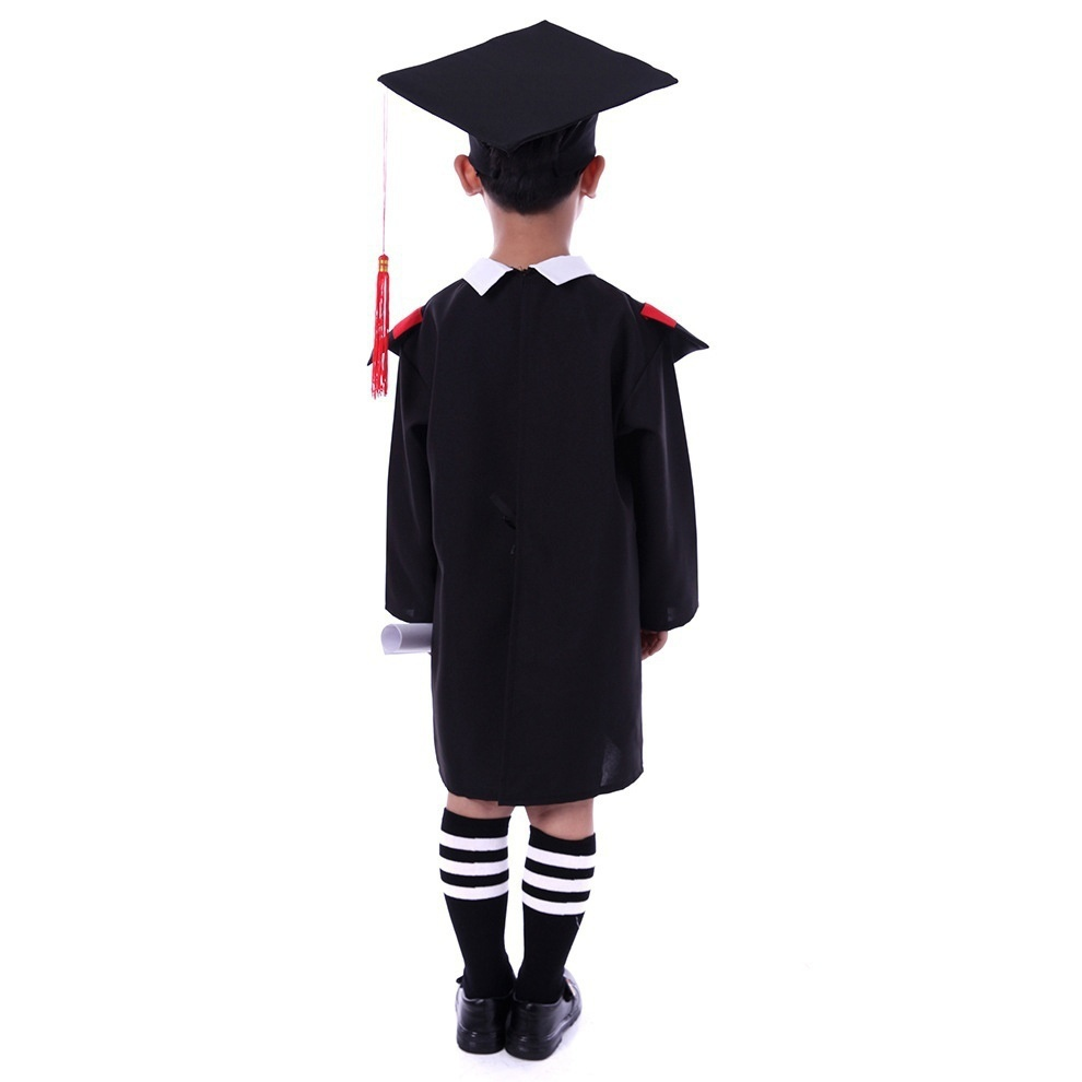 Children\'s Black Graduation Outfit Hat and Gown Costume Outfit Set ...