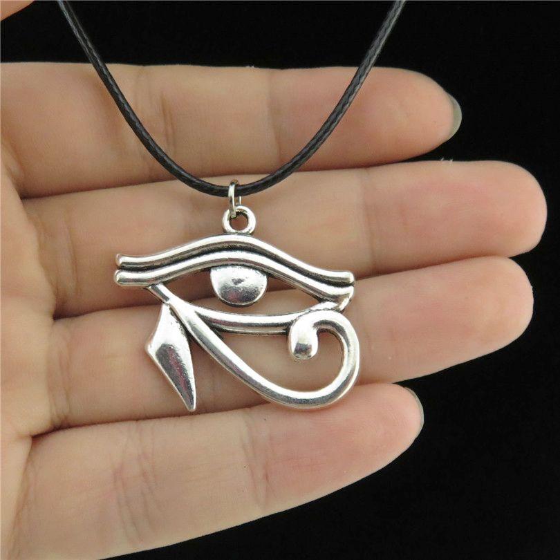 Eye of Horus 925 silver pendant ancient symbol pharaon god mythology egyptian ra