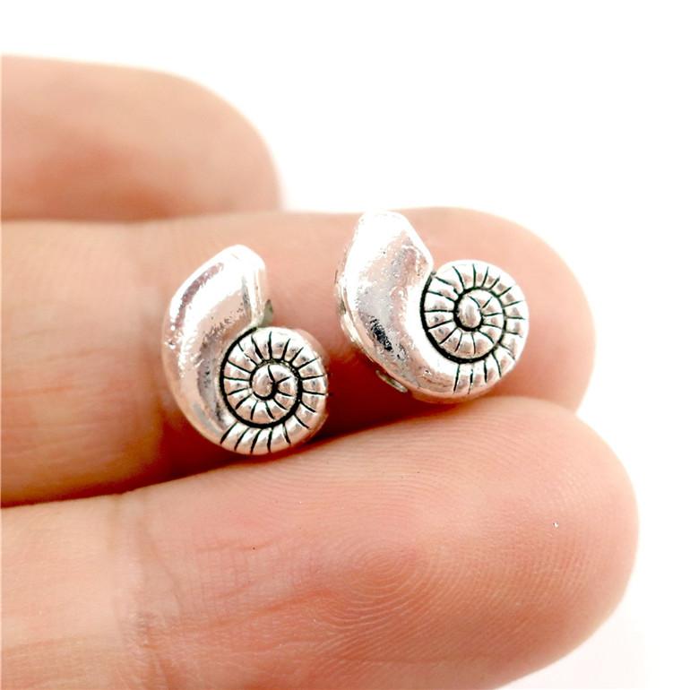 Free ship retro style Beautiful shells alloy charm pendants 25*13mm