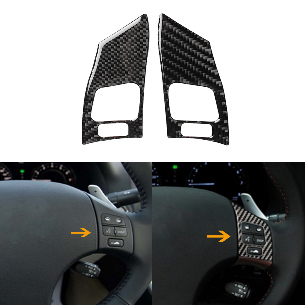 Steering Wheel Button Cover Trim,Carbon Fiber Steering Wheel Button Cover Trim Decor Fit for Lexus IS250 300 350C 2006-2012 Car Decorative Accessory B