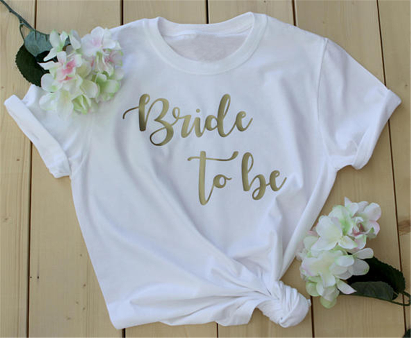 Hen Party T Shirts Hen Do Top Bride To Be Tribe Squad Personalised Gold sm  xxxl