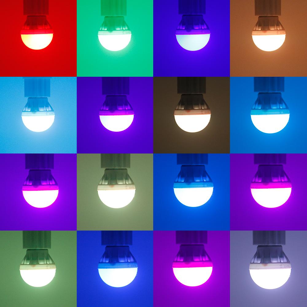 4 20x 3w E27 Rgb Led Light Bulb 16 Color Changing Magic