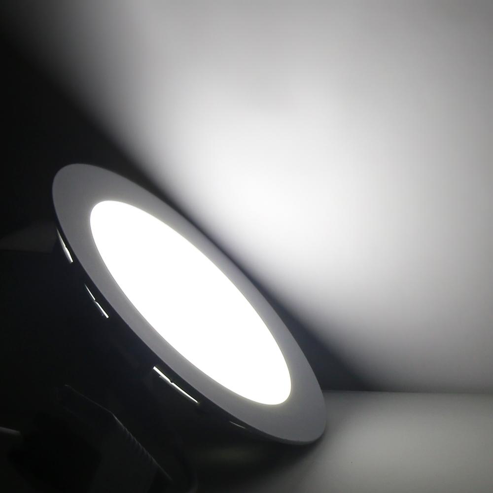 6w 9w 12w rund ultraslim led panel leuchte deckenleuchte licht dimmbar warmwei ebay. Black Bedroom Furniture Sets. Home Design Ideas